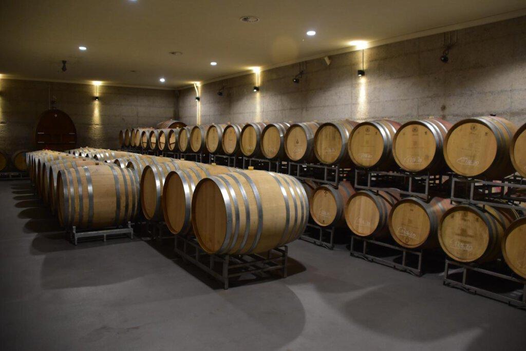 Weinerlebnis auf dem Badischen Weinradweg: Der Weinkeller des Weinguts Heitlinger