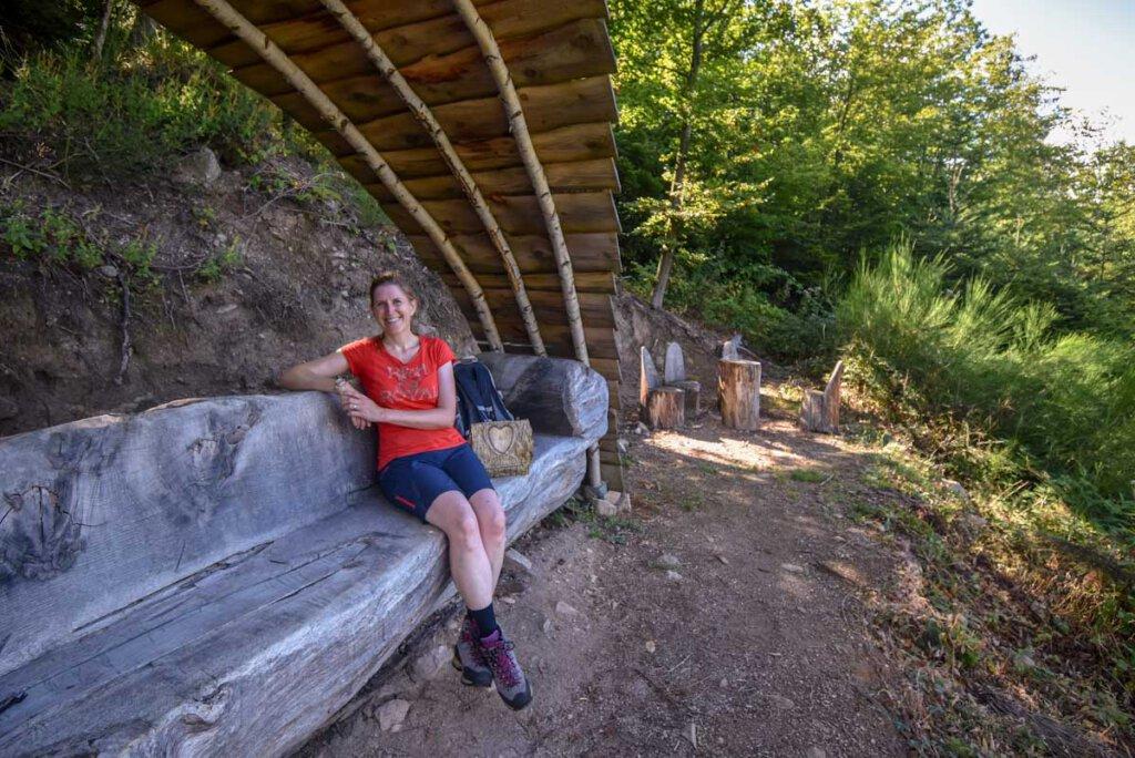 Entspannen auf dem gigantischen Waldsofa