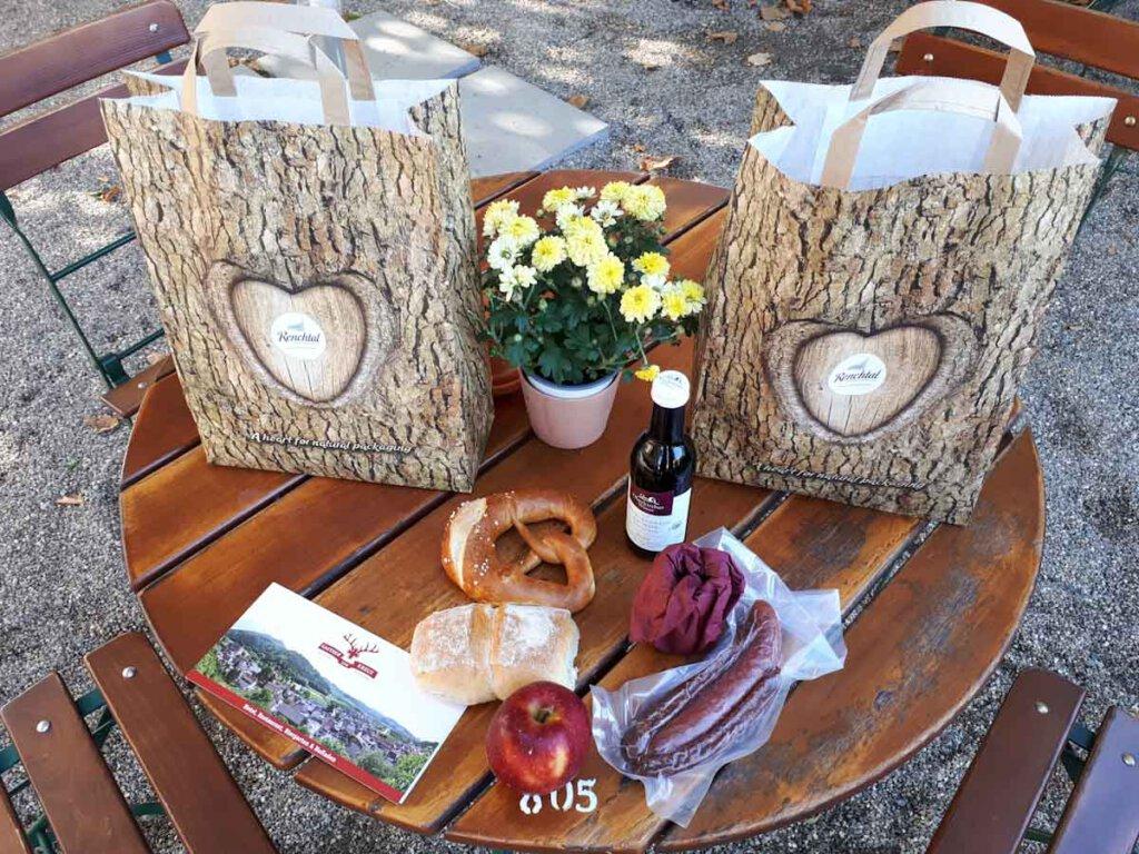 Unser leckeres Picknick für den Vesperweg