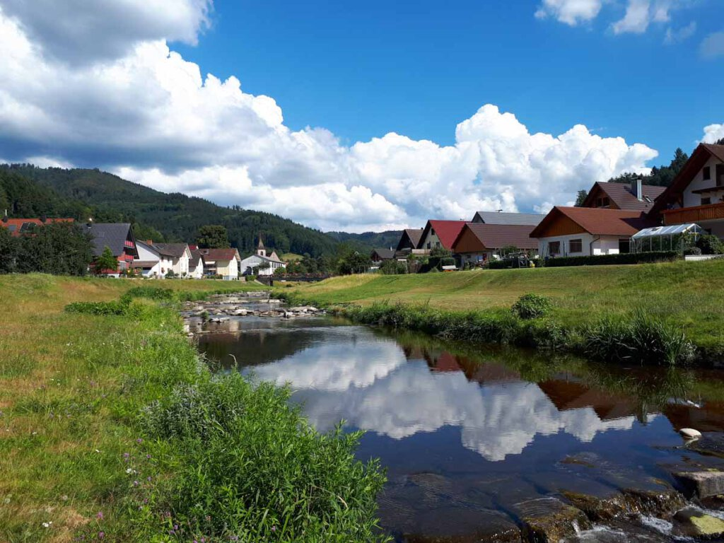 Wolkenspiel beim Rückweg nach Lautenbach