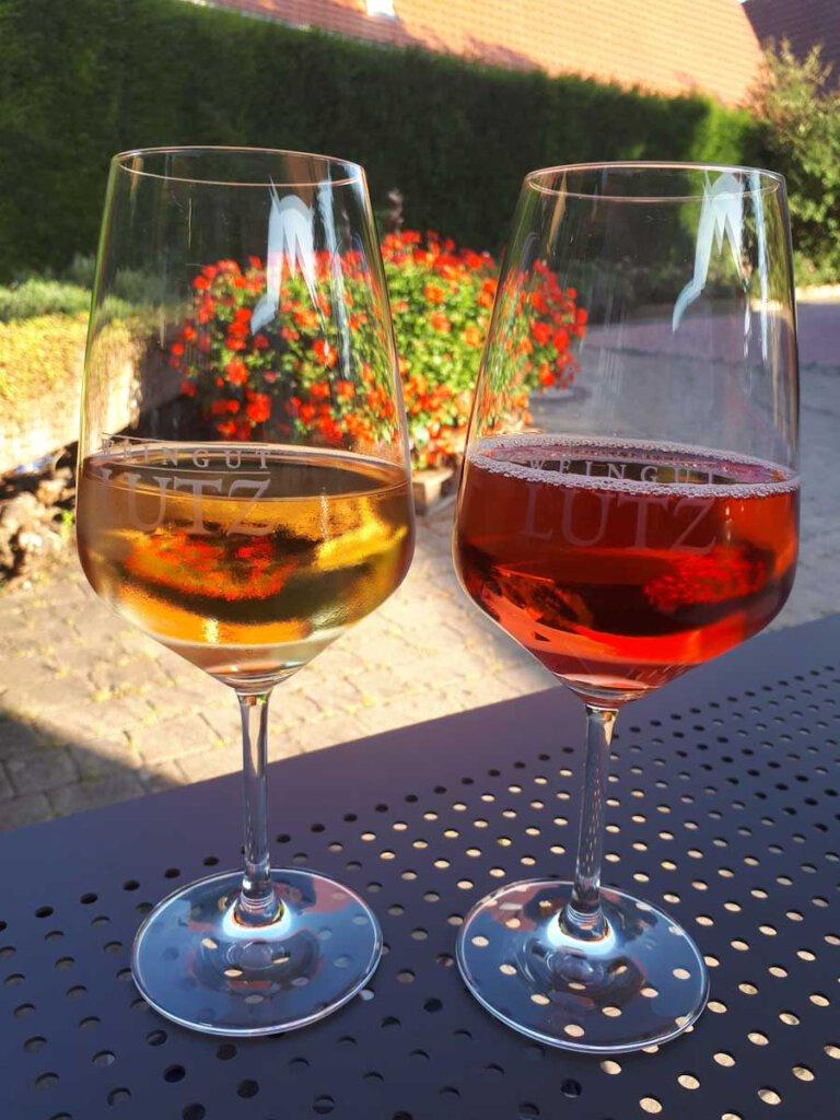 Ein kühles Gläschen badischer Wein vom Weingut Lutz