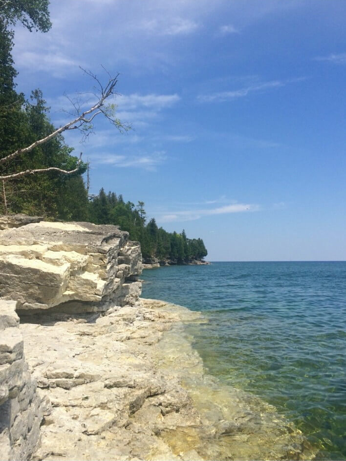Unterwegs im Cave Point State Park im Door County