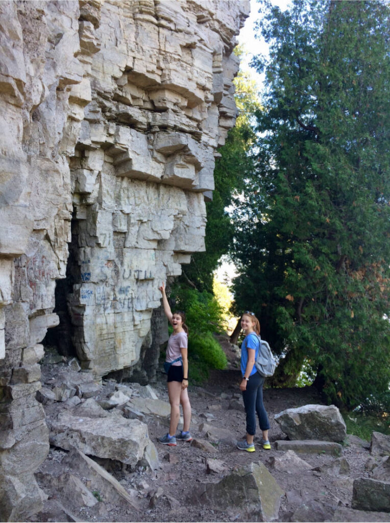 Wandern auf dem Eagle Trail im Peninsula State Park