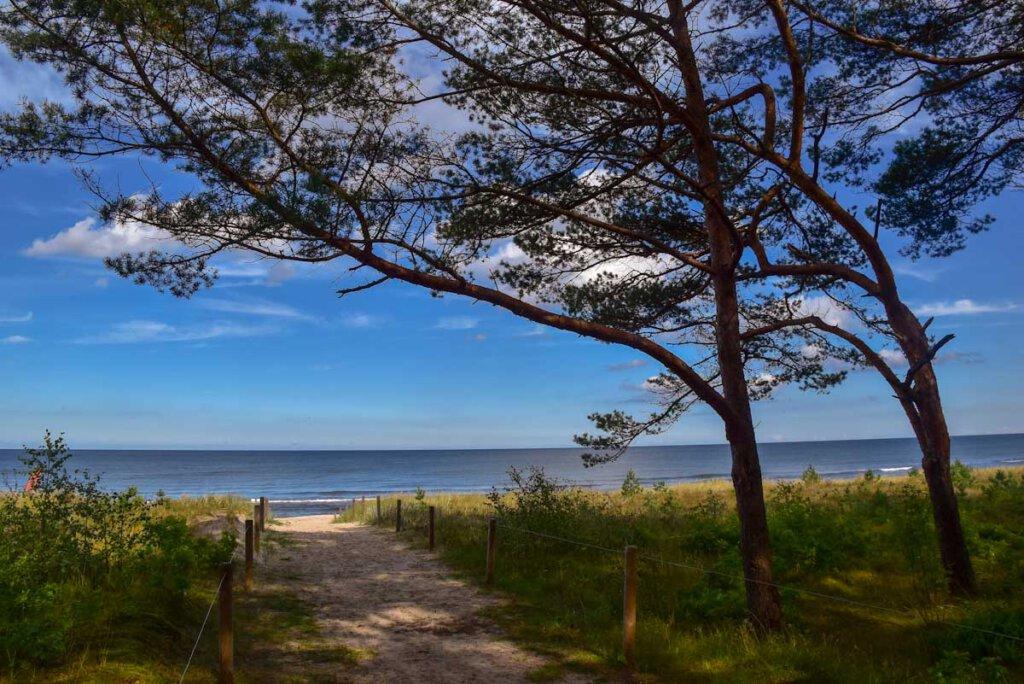 Zugang vom Waldgebiet Baaber Heide zum Ostseestrand