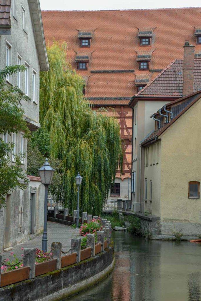 Stadtspaziergang durch Ehingen entlang der idyllischen Schmie