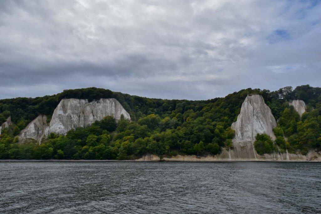 Viktoriasicht und Königsstuhl vom Wasser aus gesehen