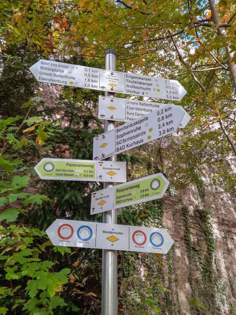 Abwechslungsreiche Wanderrouten bei den Battertfelsen in Baden-Baden