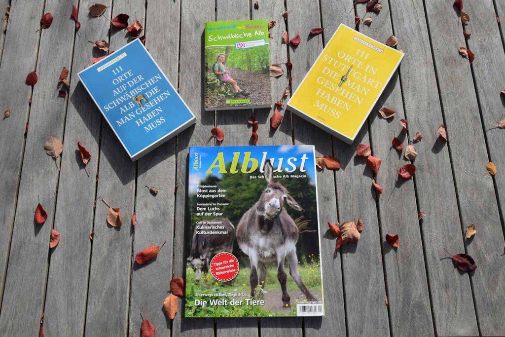 Regionale Reiseführer und Zeitschriften fürs Schwabenland