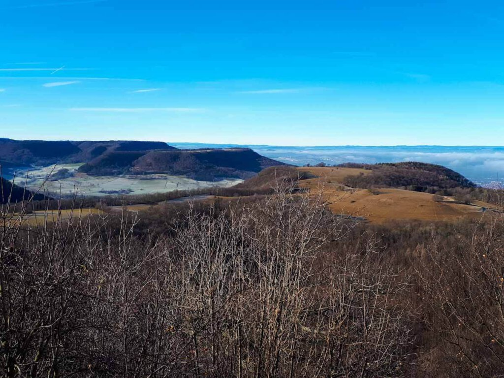 Panoramablick vom Bolberg im Winter