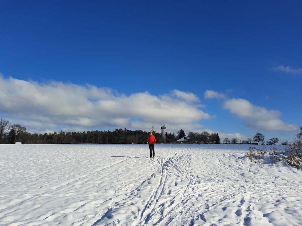 Langlaufen macht auch ohne Loipe Spaß