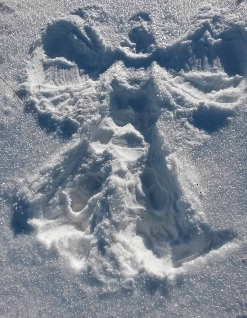 Wer macht nicht gerne Schnee-Engel?
