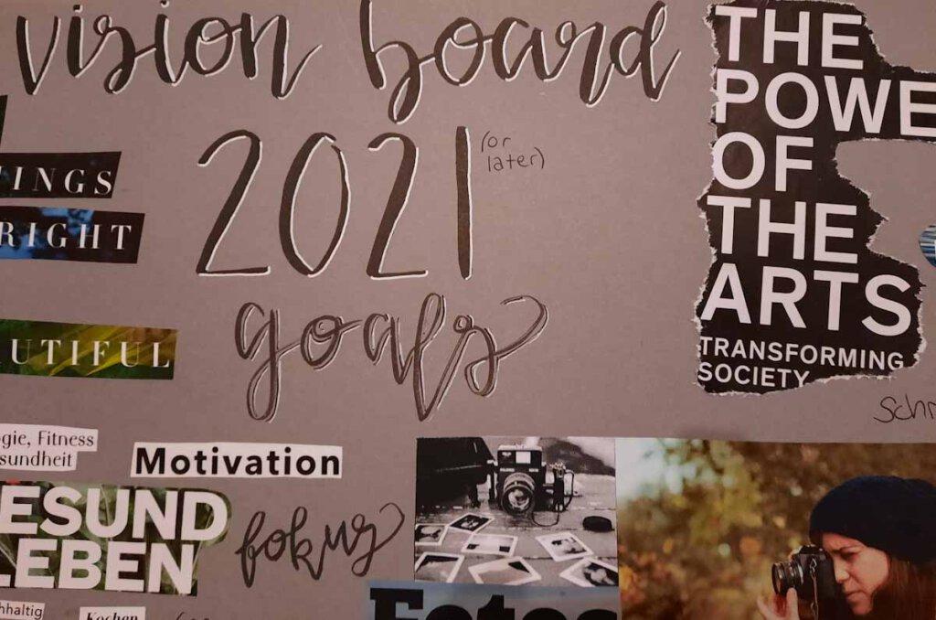 Das Vision Board unserer Tochter