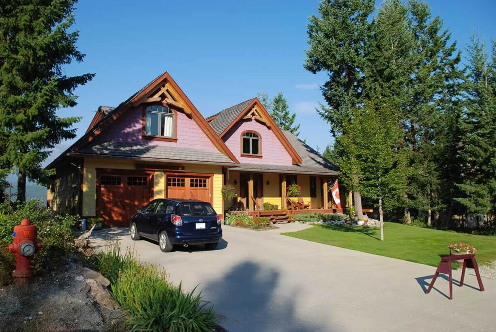 "Das ""Le Beausoleil Bed & Breakfast"" in Golden in British Columbia"