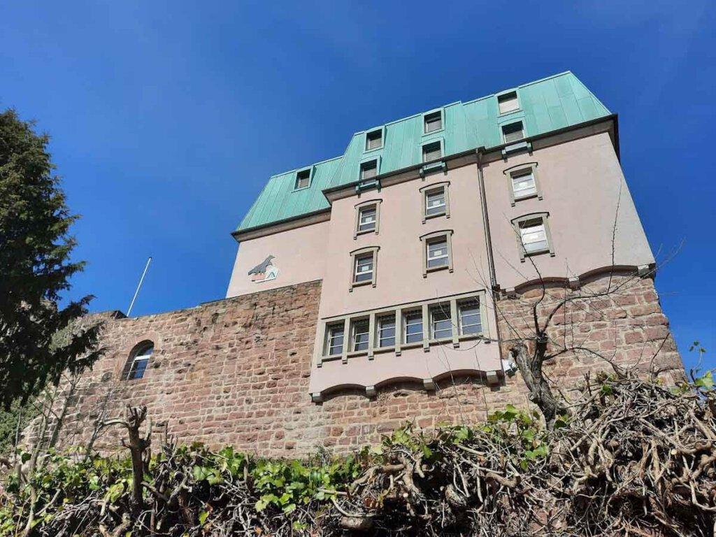 2. Ziel unserer Wanderung im Nordschwarzwald: Die Jugendherberge Burg Rabeneck Pforzheim