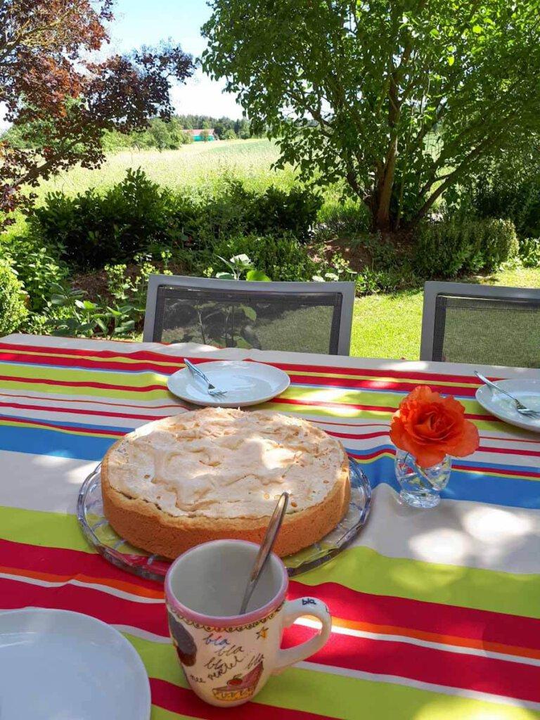 Unser feines Rezept für Rhabarberkuchen mit Baiser eröffnet die Saison im Garten