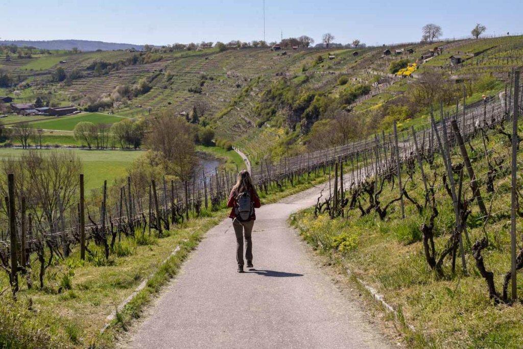 Auf dem Weinbergweg durch die spektakulären Felsengärten Mühlhausen