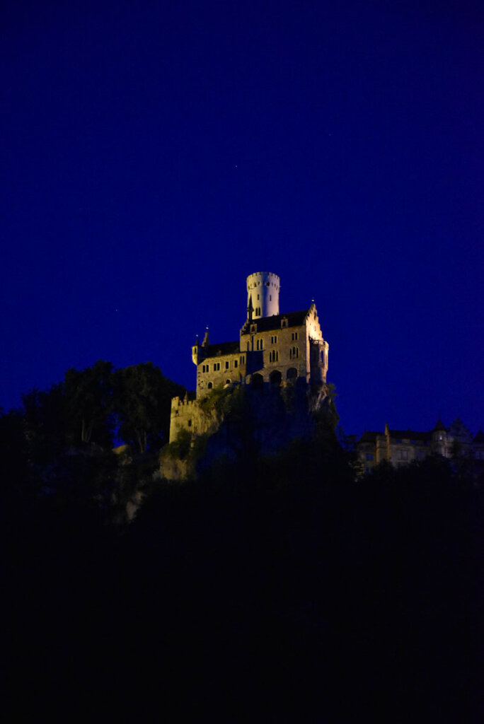 Schloss Lichtenstein bei Nacht