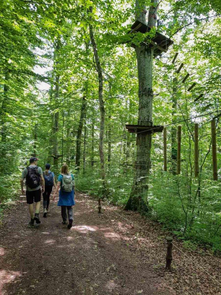 Letztes Wegstück durch den Abenteuerpark Lichtenstein