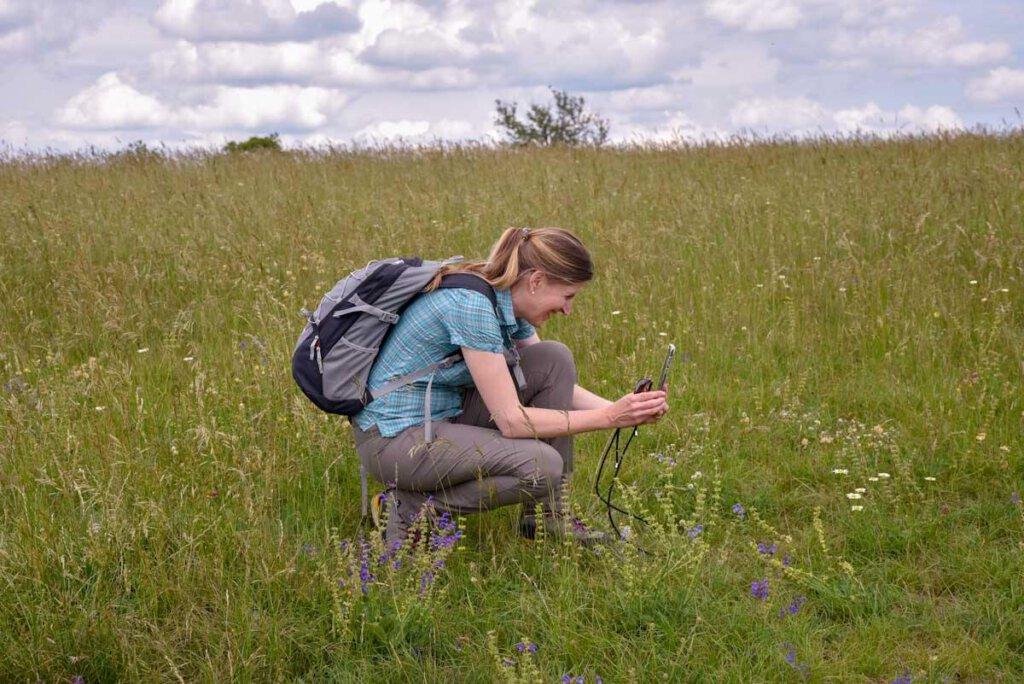 Begeistert von den Wildblumenwiesen der Schwäbischen Alb