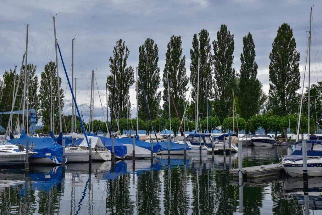 Der pittoreske Yachthafen von Uhldingen-Mühlhofen