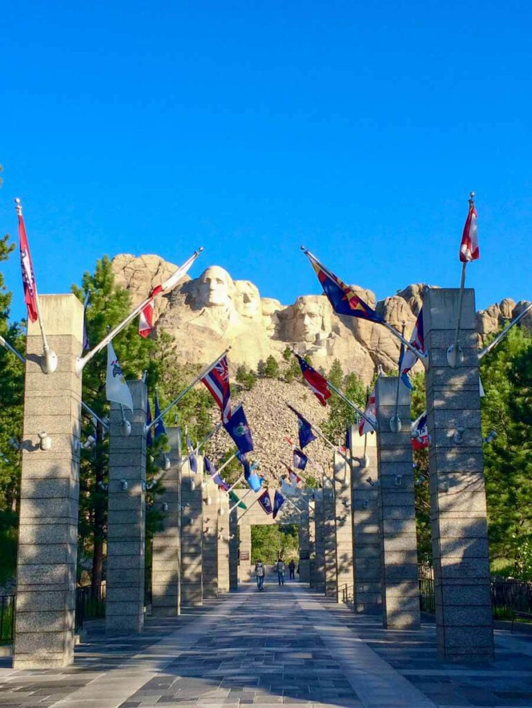 Mount Rushmore, das weltbekannte Nationaldenkmal der USA in South Dakota