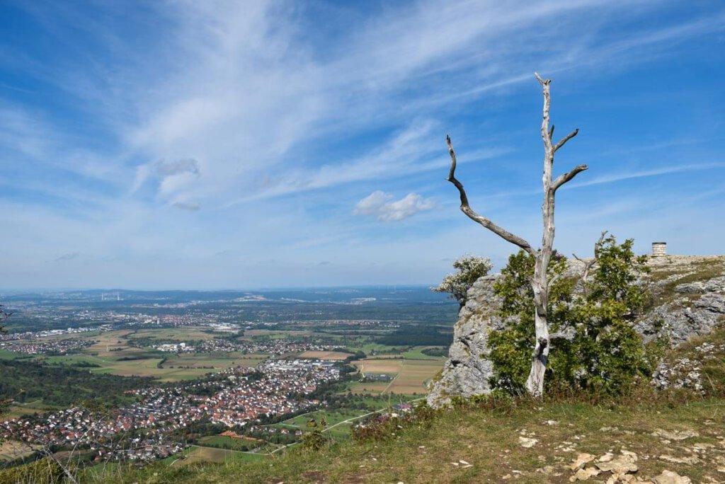 Panoramablick vom Breitenstein über das Albvorland